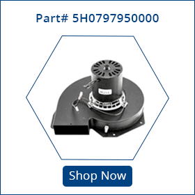 5h0797950000 part for modine inducer assembly