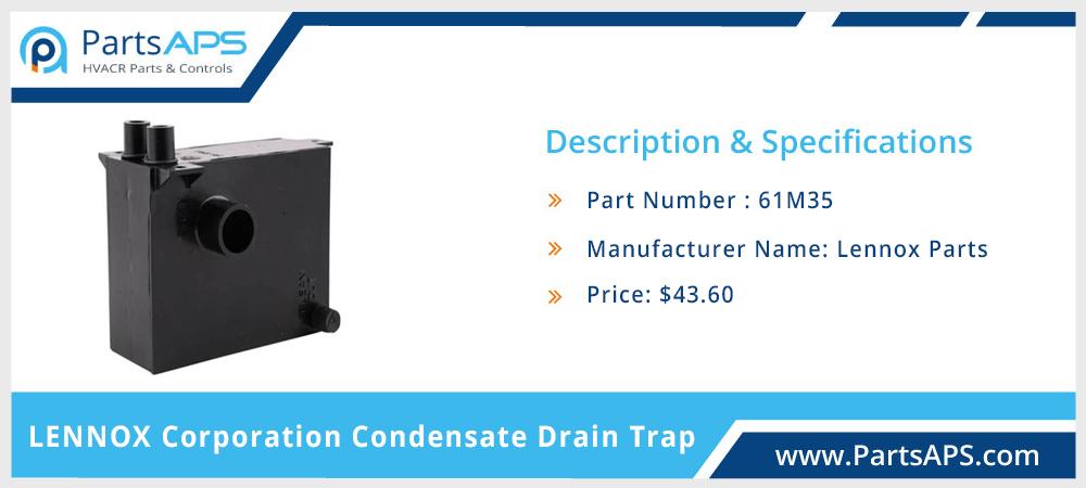 Lennox 61M35 Corporation Drain Trap