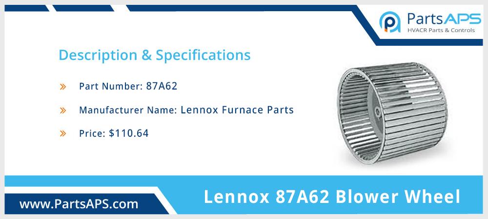 Lennox 87A62 Blower Wheel