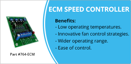 ecm speed controller for hoffman controls
