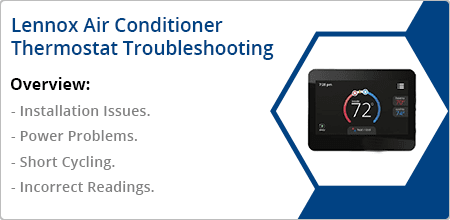 lennox air conditioner thermostat troubleshooting guide
