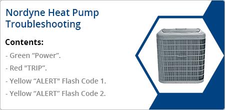 nordyne heat pump troubleshooting guide