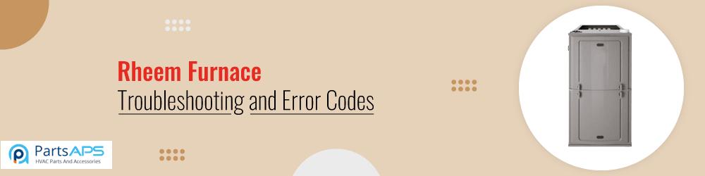 rheem furnace troubleshooting and error codes