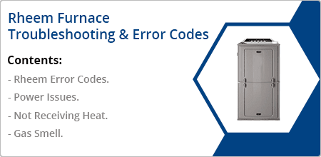 rheem furnace troubleshooting error codes