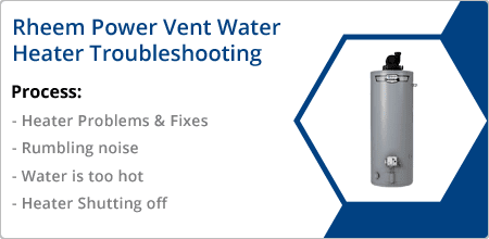 rheem power vent water heater troubleshooting guide