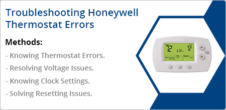 troubleshooting honeywell thermostat