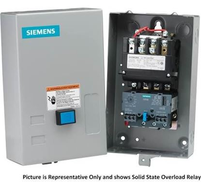 Picture of 120/240v3Ph 3P HdMtrStrW/Encl For Siemens Industrial Controls Part# 14GUG32BA