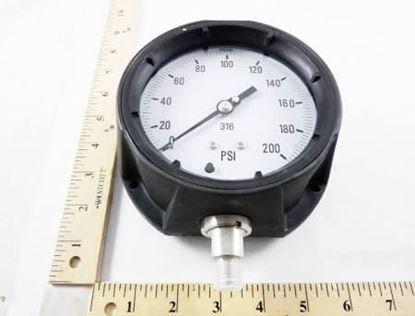 """Picture of 0-200# 1/4""""BTM 4.5""""DIAL GAUGE For Kodiak Controls Part# 4501-4.5-4-200"""