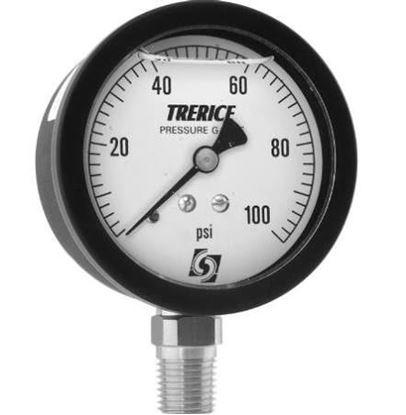 """Picture of 2.5"""" 0-100# LIQ 1/4""""npt LOWER For Trerice Part# 800LFB2502LA110"""
