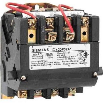 Picture of 120/240V 90AMP 3POLE CONTACTOR For Siemens Industrial Controls Part# 40HP32AA
