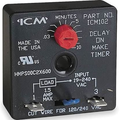 Picture of .1-600secDelayOnMakeTimer For ICM Controls Part# ICM102