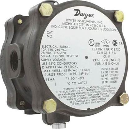 "Picture of .07-.15""XPRF DIFF # SWITCH For Dwyer Instruments Part# 1950G-00-B-120-NA"