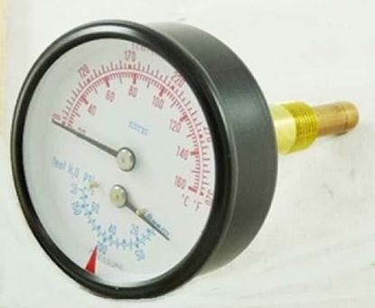 Picture of Pressure&Temperature Gauge For Hydrotherm Part# 20-1014