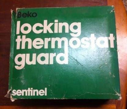 "Picture of BeigeMetalGuard, 6 x 4 1/8 x3"" For Beko Thermostat Guards Part# BTG-54VLW"