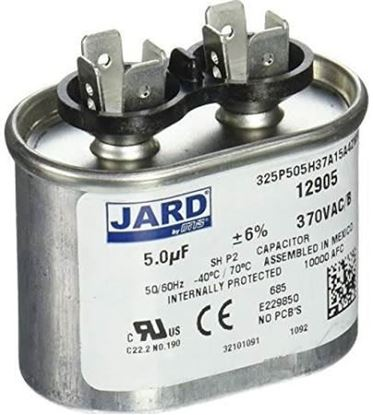Picture of 5MFD 370V Oval Run Capacitor For MARS Part# 12905