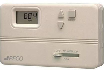 Picture of DigitalThermostatSetBack3SpdFn For Peco Controls Part# TB158-100