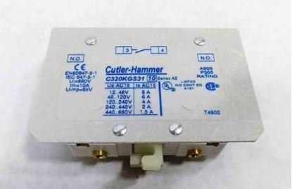 Picture of 1 N/O AUX FOR CONTACTOR For Cutler Hammer-Eaton Part# C320KGS31