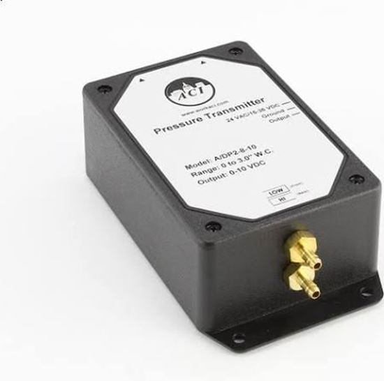 "Picture of 0-3""wc-IN 0-10VDC-OUT TRANSMTR For Automation Components Inc (ACI) Part# A/DP2-8-10"