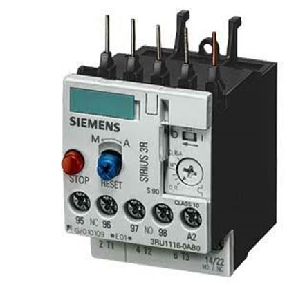 Picture of 1.4-2 AMP OVERLOAD For Siemens Industrial Controls Part# 3RU1116-1BB0