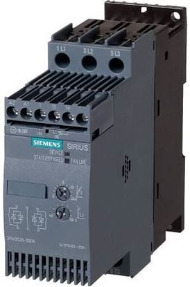 Picture of 200-460V 23A 5/5/15hp Soft Str For Siemens Industrial Controls Part# 3RW3026-1BB14