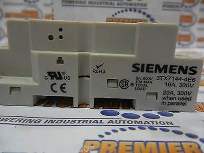 Picture of SOCKET RELAY BASE For Siemens Industrial Controls Part# 3TX7144-4E6