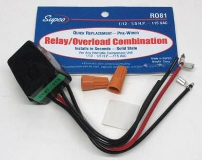 Picture of 1/12-1/5HP 115V QC OverloadRly For Supco Part# RO81