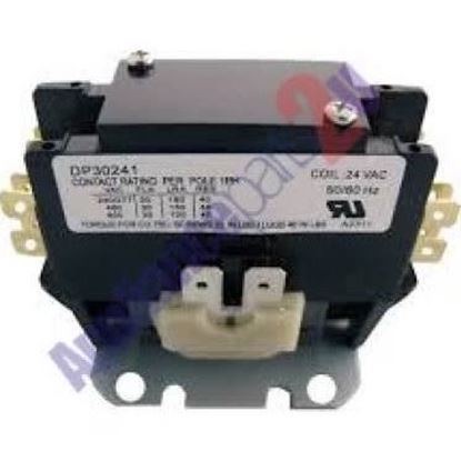 Picture of 1 1/2pole 24v 30amp contactor For Supco Part# DP30241