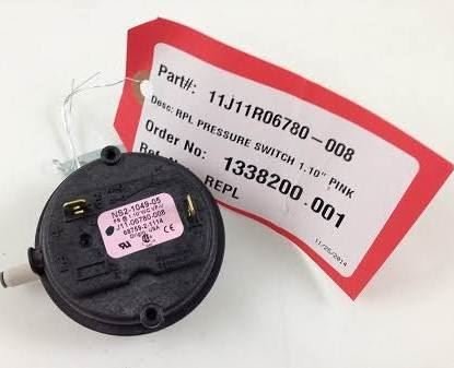 "Picture of 1.10""WC PRESSURE SWITCH For Sterling HVAC Part# 11J11R06780-008"