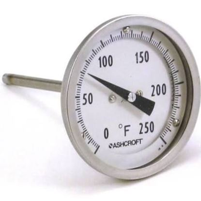 "Picture of 0/250F THERMOMETER,1/2""BOT. For Ashcroft Part# 30EI60E040-0/250F"