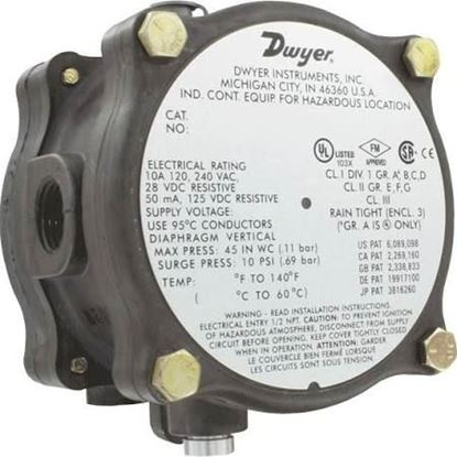 "Picture of .07to.15"" X-Prf DifPresSw 24VD For Dwyer Instruments Part# 1950G-00-B-24-NA"