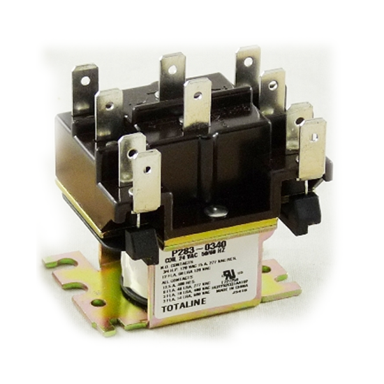 24v coil 2pole fan relays for carrier part p283 0340. Black Bedroom Furniture Sets. Home Design Ideas